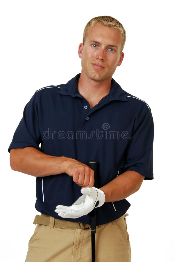 Jogador de golfe masculino fotografia de stock