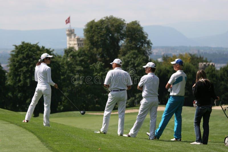 Jogador de golfe profissional Antti Ahokas imagens de stock royalty free