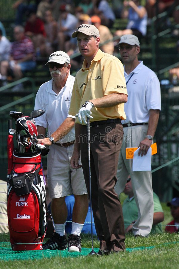 Jogador de golfe profissional Jim Furyk foto de stock royalty free