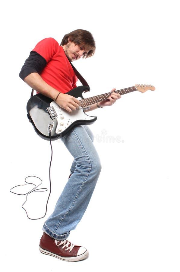 Jogador de guitarra imagem de stock royalty free