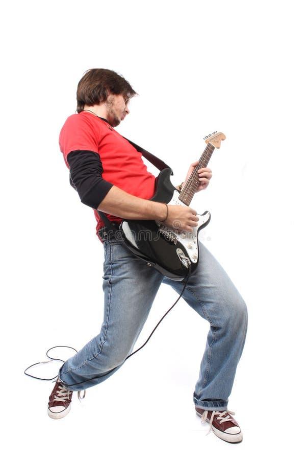 Jogador de guitarra imagens de stock royalty free