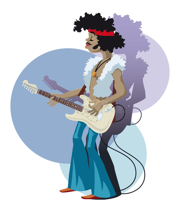 Jogador de guitarra ilustração do vetor