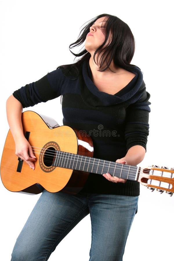 Jogador de guitarra fotografia de stock