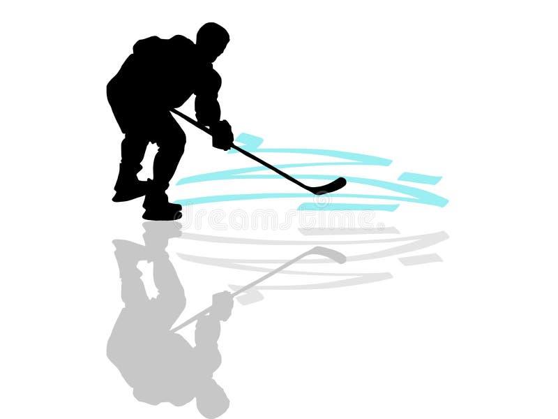 Jogador de hóquei em gelo ilustração do vetor