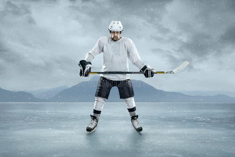 Jogador de hóquei em gelo fotografia de stock