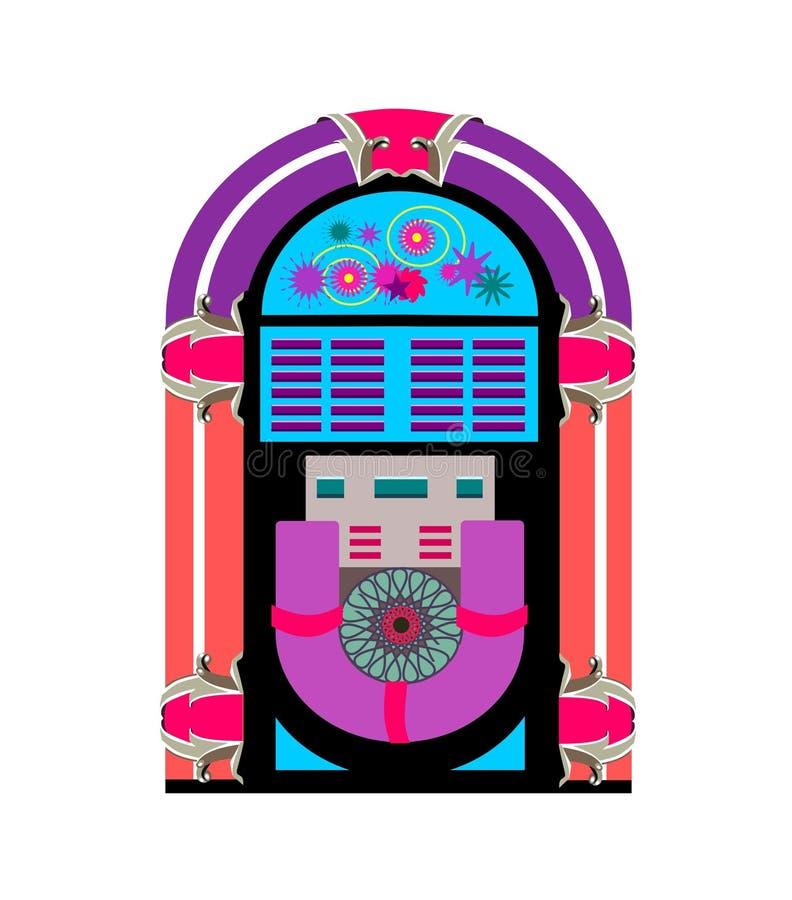 Jogador de música do jukebox ilustração do vetor