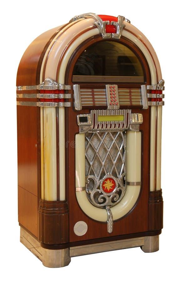Jogador de música idoso do jukebox foto de stock