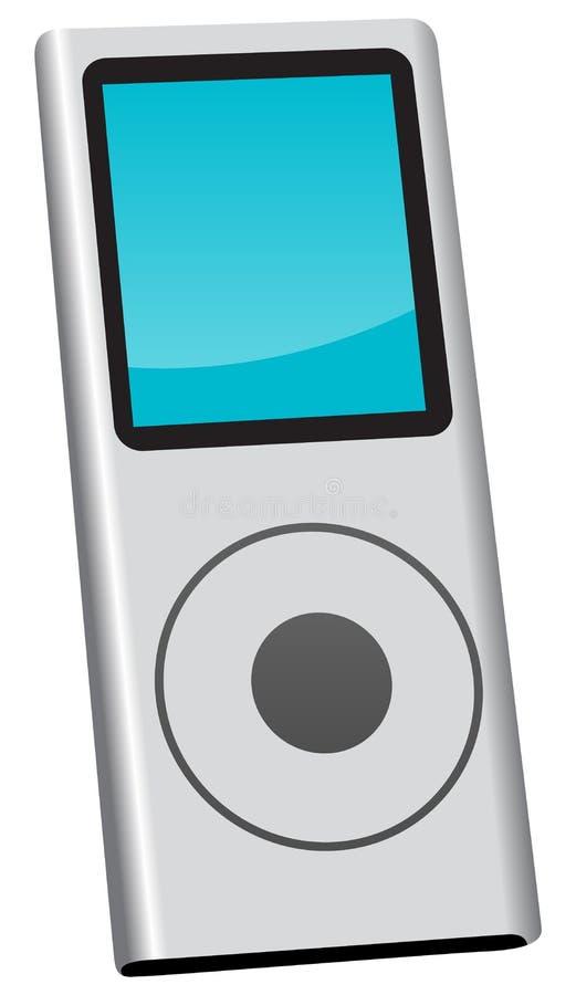 Jogador de música MP3 ilustração stock