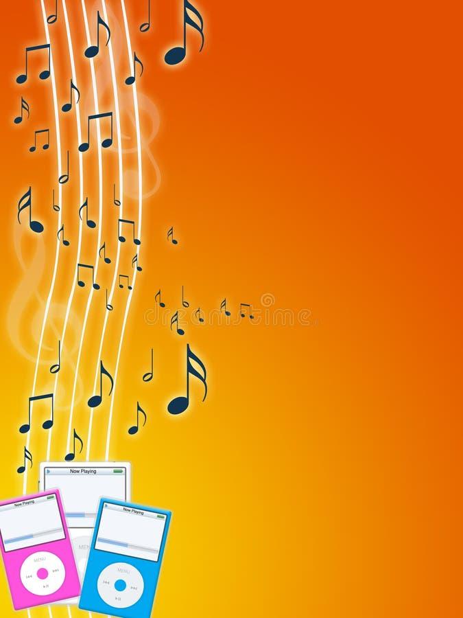 Jogador de mp3 da música ilustração stock