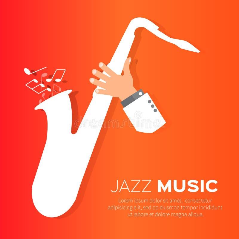 Jogador de saxofone ilustração royalty free