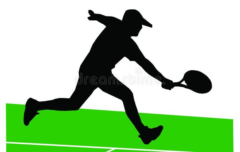Download Jogador de ténis ilustração stock. Ilustração de atividade - 541495