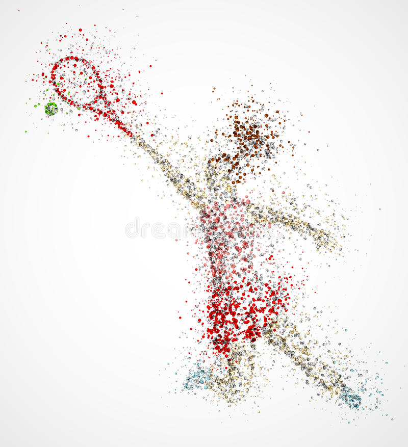 Jogador de ténis abstrato ilustração royalty free