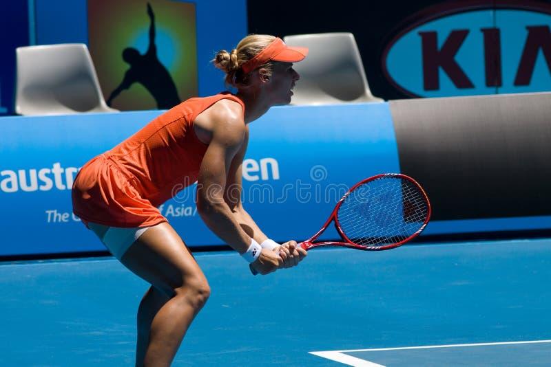 Jogador de ténis Elena Dementieva do russo foto de stock