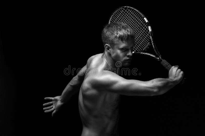 Jogador de ténis masculino imagens de stock royalty free