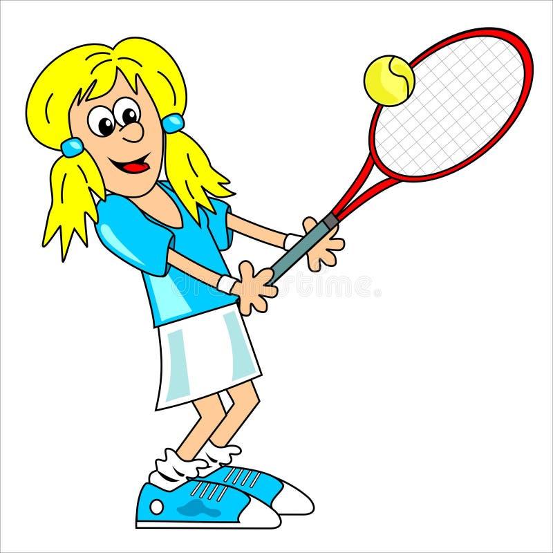 Jogador de ténis - menina ilustração stock