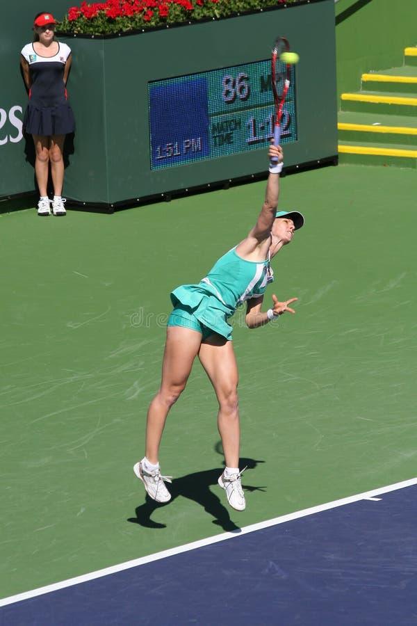 Jogador de ténis profissional. imagens de stock