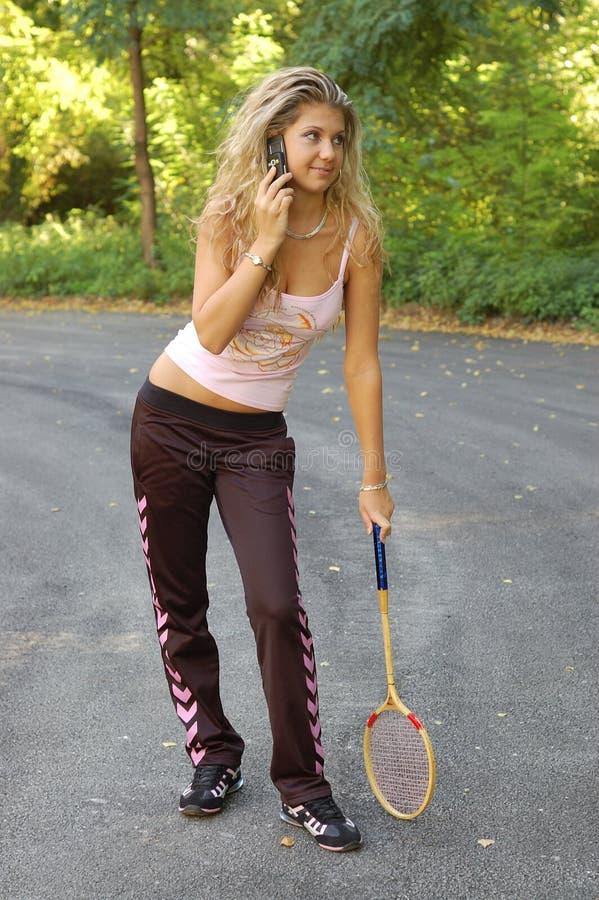 Jogador de ténis 'sexy' foto de stock