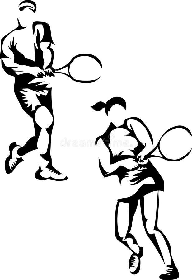 Jogador de tênis ilustração stock