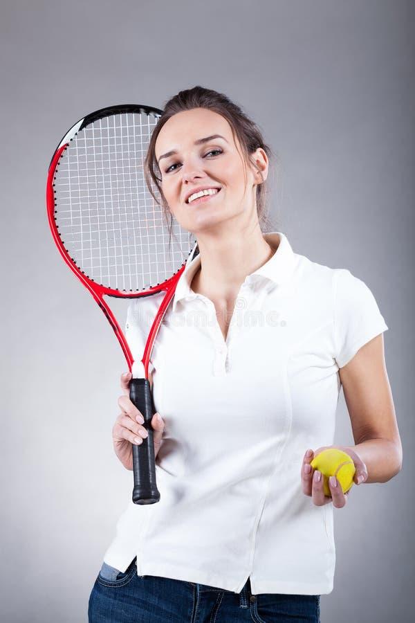Jogador de tênis bonito fotos de stock royalty free