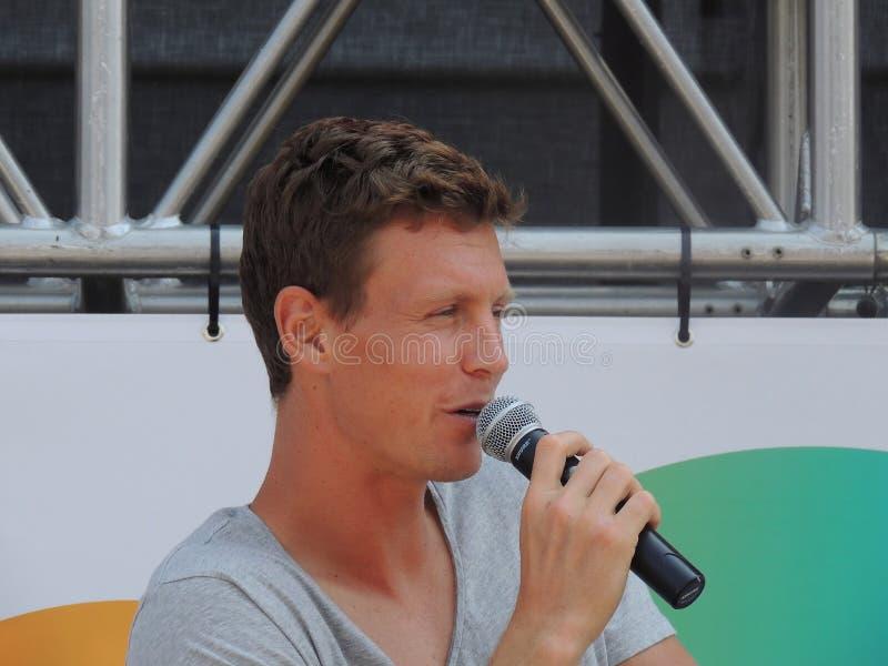 Jogador de tênis checo Tomas Berdych em Miami aberto imagens de stock royalty free