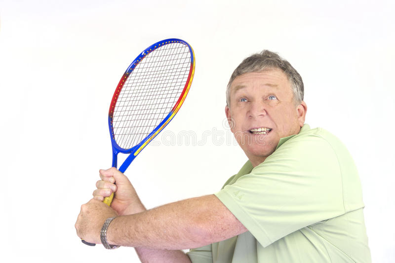 Jogador de tênis de retorno do saque imagem de stock