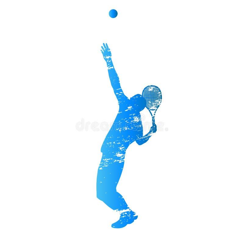 Jogador de tênis do serviço ilustração stock