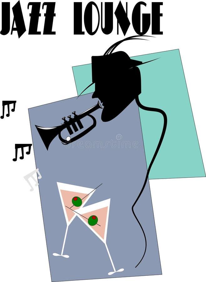 Jogador de trombeta do jazz ilustração royalty free
