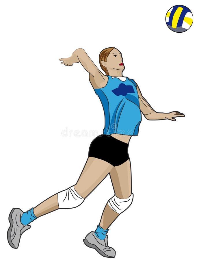 Jogador de voleibol ilustração royalty free