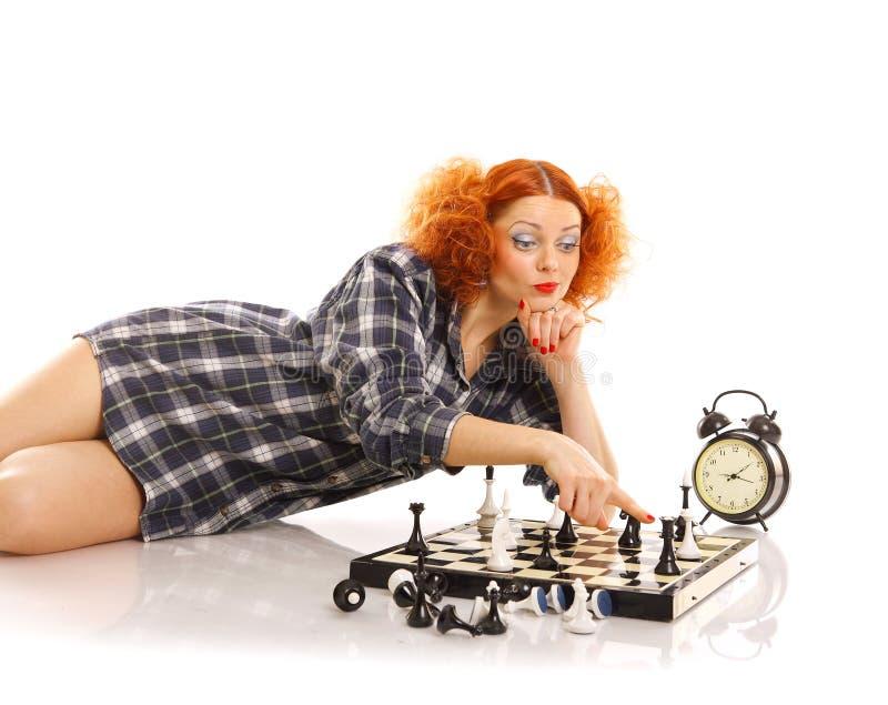 Jogador de xadrez fotos de stock
