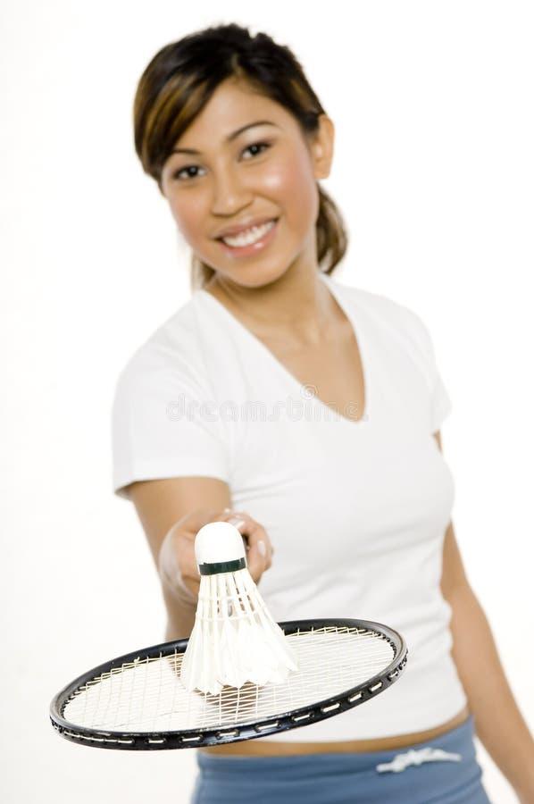 Jogador do Badminton fotografia de stock royalty free