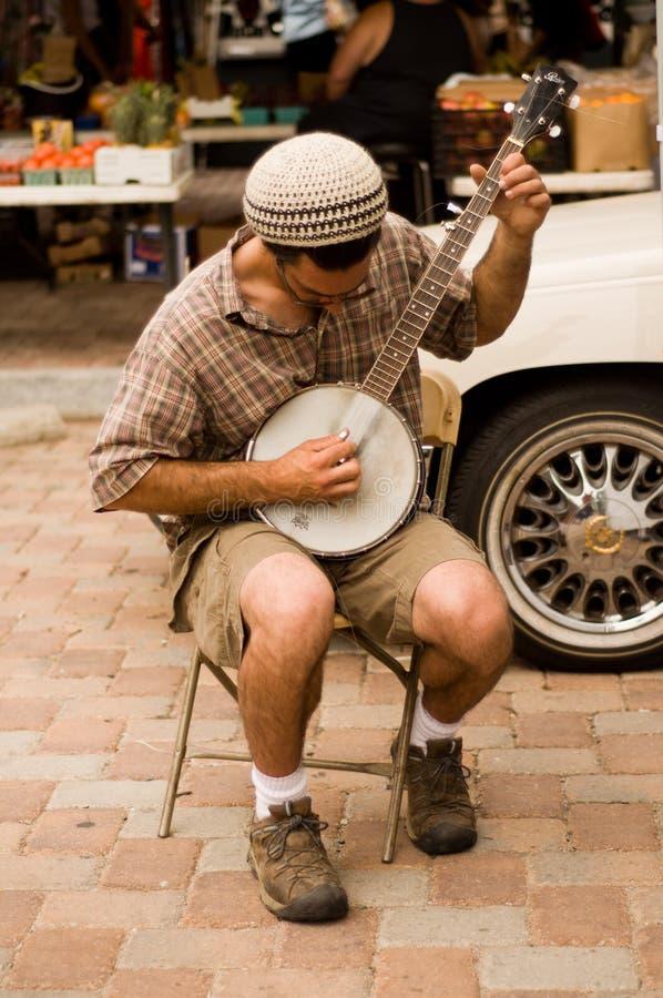 Jogador do banjo fotografia de stock