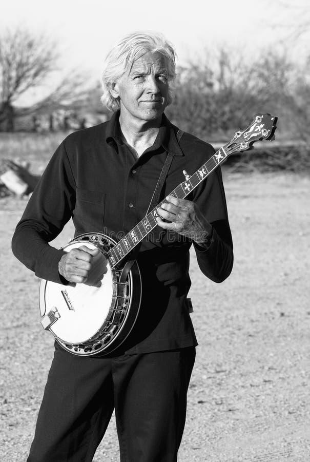 Jogador do banjo imagens de stock