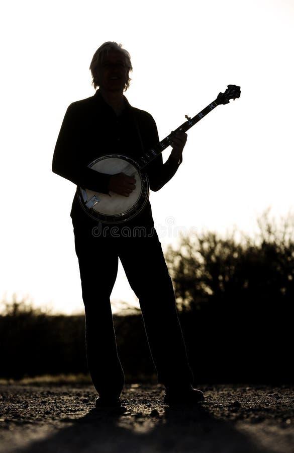 Jogador do banjo imagem de stock