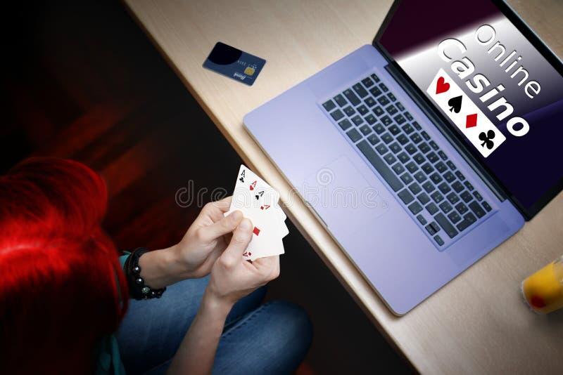 Jogador do casino do pôquer foto de stock