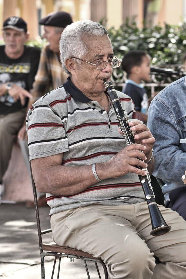 Jogador do clarinete fotos de stock