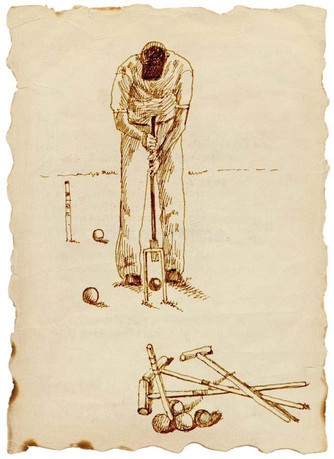 Jogador do Croquet ilustração royalty free