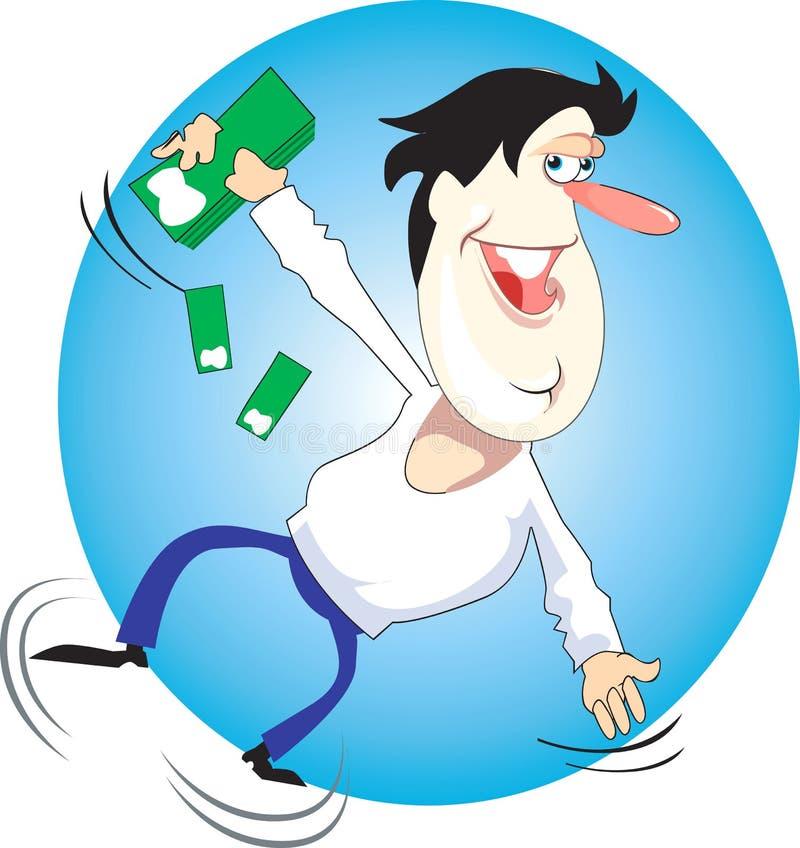 Jogador do dinheiro ilustração royalty free