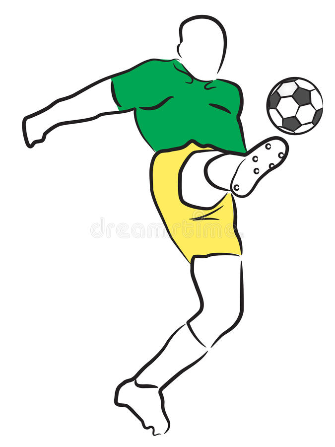 Jogador do futebol/futebol ilustração stock