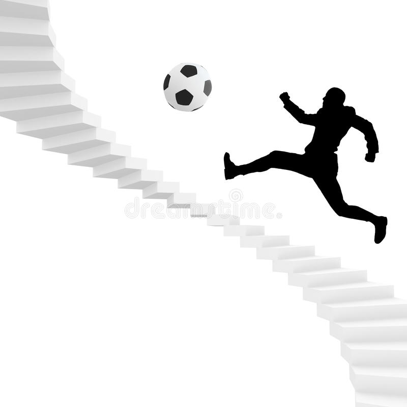 Jogador do futebol ou de futebol ilustração do vetor