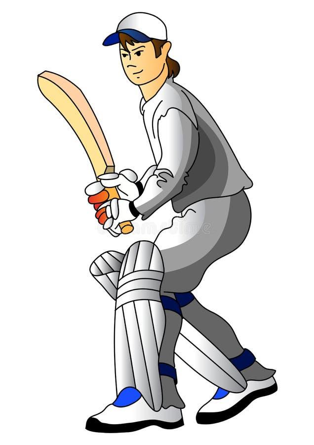 Jogador do grilo ilustração do vetor