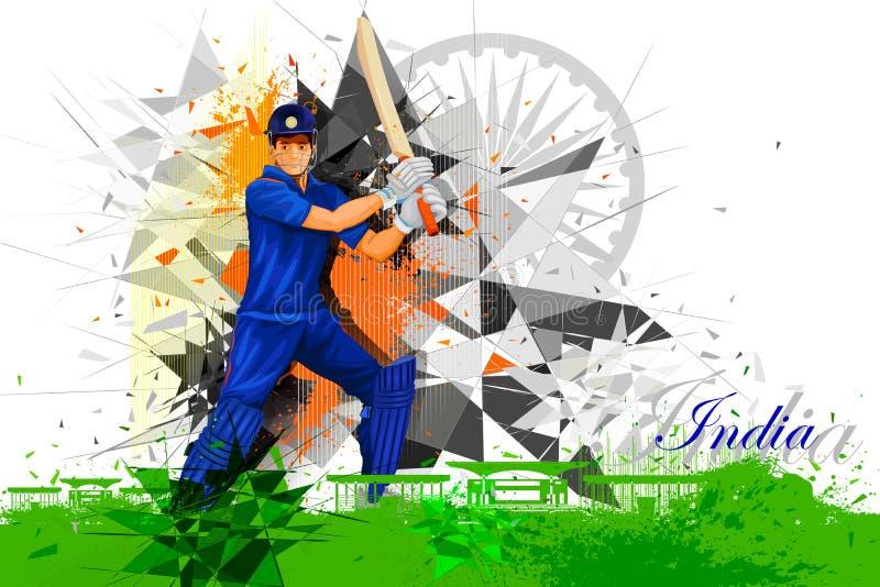 Jogador do grilo da Índia ilustração do vetor