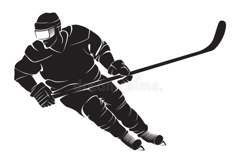 Jogador do hóquei ilustração stock