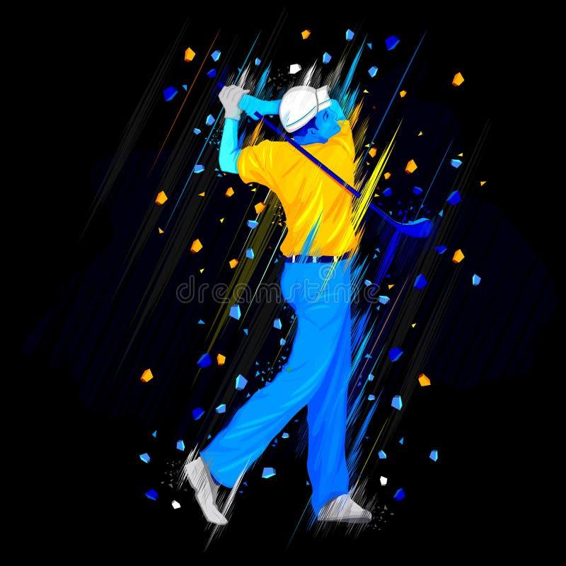Jogador do jogador de golfe ilustração stock