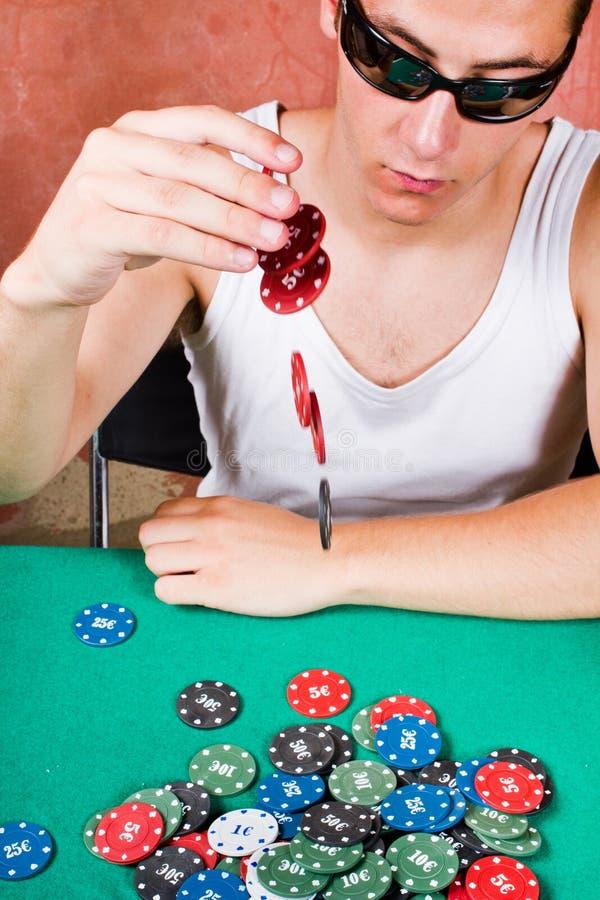 Jogador do póquer fotos de stock