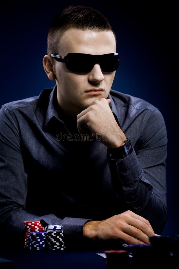 Download Jogador do póquer foto de stock. Imagem de microplaquetas - 16857672