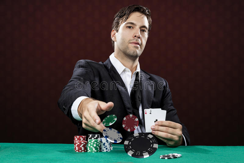 Jogador do póquer imagens de stock