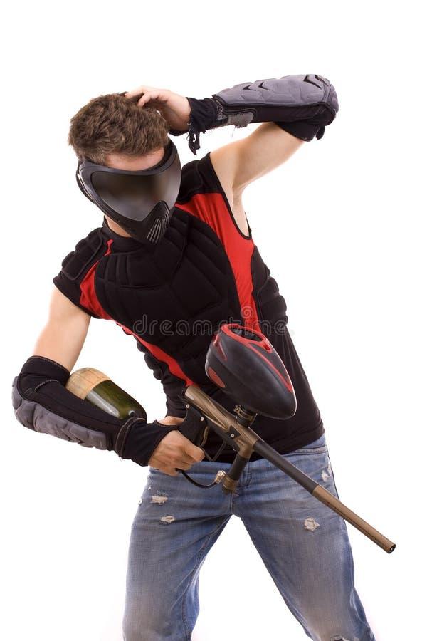 Download Jogador do Paintball imagem de stock. Imagem de premissa - 16850631