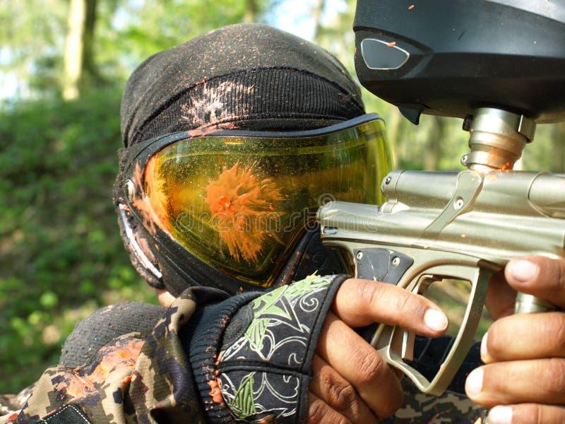 Jogador do Paintball fotografia de stock