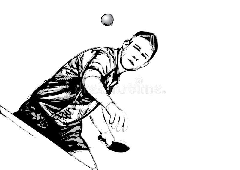 Jogador do pong do sibilo ilustração royalty free
