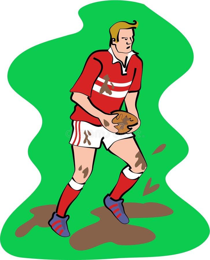 Jogador do rugby ilustração royalty free